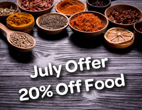 July Offer 20% Off All Food - Spice Lounge Petersfield - Restaurant Petersfield - Authentic Indian Cuisine Hampshire - Free Local Delivery - Takeaway Menu - Set Menu - Weekly Offers