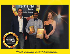 Best Eating Establishment Winner 2017 - Spice Lounge Petersfield Restaurants Petersfield Restaurant Petersfield Authentic Indian Cuisine Hampshire Takeaway
