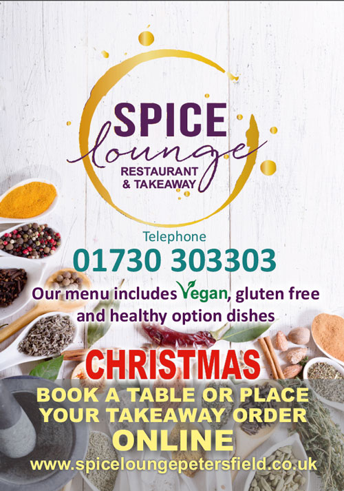 Spice Lounge Petersfield Christmas 2019 - Restaurants Petersfield - Authentic Indian Cuisine Hampshire - Free Local Delivery Takeaway Menu & Weekly Offers